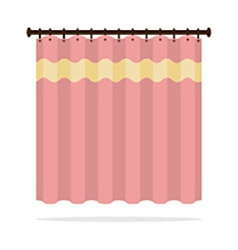 Pink curtain on white background vector