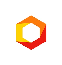 Geometry cube polygon technology logo vector