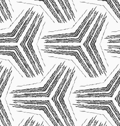 Monochrome rough striped big tetrapods vector