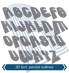 Geometric typescript in rotation 3d industrial vector