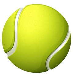 Single light green tennis ball vector