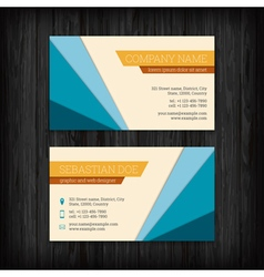 Set of business cards templates vector