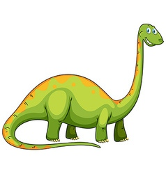 Green dinosaur with long neck vector