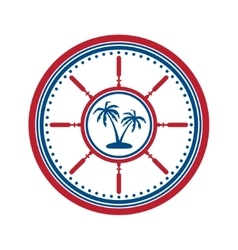 Palms symbol on white vector
