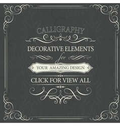 Decorative swirly elements for your design vector