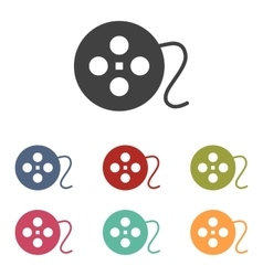 Film circular icons set vector