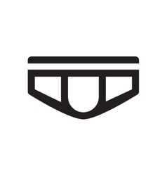 Flat icon in black and white men underpants vector