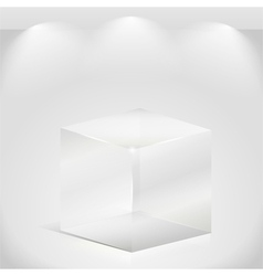 Transparent glass cube vector