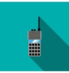 Portable radio transceiver icon flat style vector
