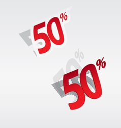 50 sale percents label vector