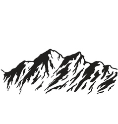 mountain range vector image