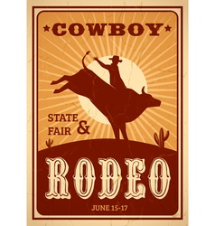 Advertisement Rodeo Poster vector image vector image