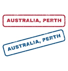 Australia perth rubber stamps vector