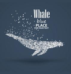 blue whale particle divergent composition vector image vector image