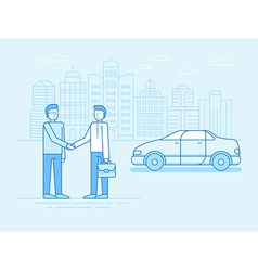Car sharing concept - new model of car rental vector