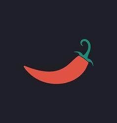 chili computer symbol vector image vector image