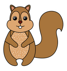 cute and tender chipmunk vector image