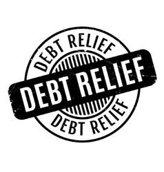 Debt Relief rubber stamp vector image