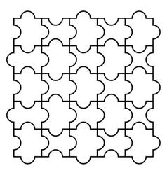 Four piece puzzle vector