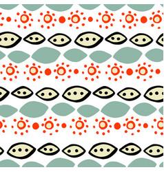 handdrawn tribal geometric pattern vector image