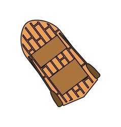 Isolated wood boat design vector image