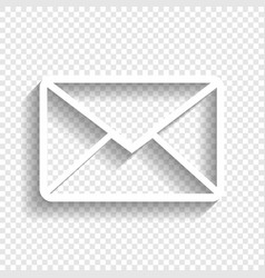 Letter sign white icon with vector