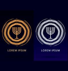Menorah israel candle vector