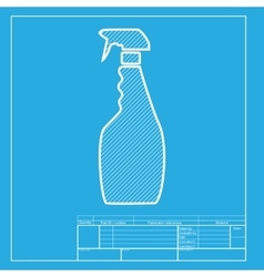 Plastic bottle for cleaning White section of icon vector image vector image