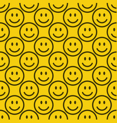 Seamless emoji pattern vector