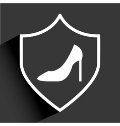 shoes woman vector image