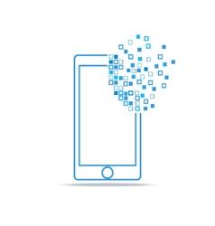 Smart phone technology vector