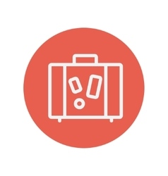 Suitcase thin line icon vector image vector image
