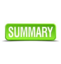 Summary green 3d realistic square isolated button vector