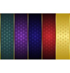 Thai art pattern background 01 vector