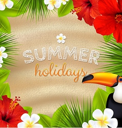Tropical color banner vector
