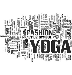 yoga for modern city life yoga is now a lifestyle vector image