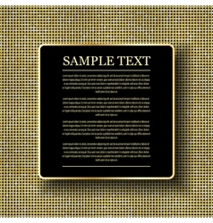 Background with shiny gold sequins vector image