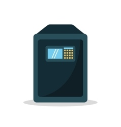 Isolated strongbox object design vector