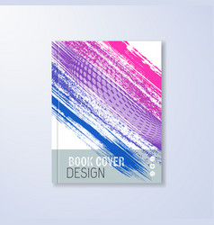 abstract book design template vector image