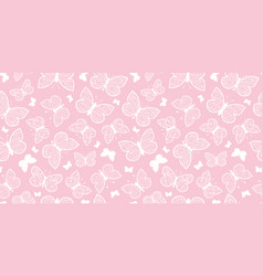 Pastel pink butterflies repeat seamless vector