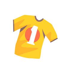 orange soccer shirt cartoon vector image