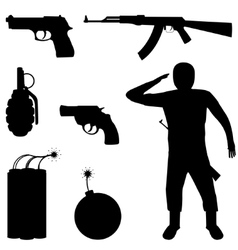 Weapon set vector
