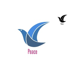 Dove bird as a peace symbol vector