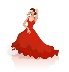 Flamenco dance vector