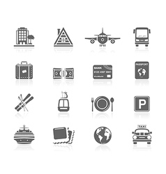 Black icons - vacations vector