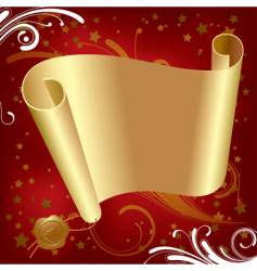 Christmas & New-Year's gold parchment vector image