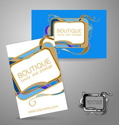 Boutique luxury prestige logo vector
