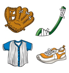 Kids sports equipment vector