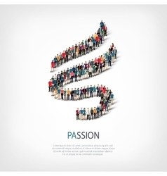 Passion people sign 3d vector