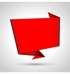 Abstract origami speech bubble vector